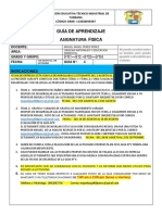 GUIA N°4 9° DE APRENDIZAJE DE FISICA AGOSTO 2021