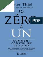 De Zéro à Un by Thiel Peter