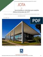 Pauta Conjunta e Teses Jurídicas_ Estratégia Para Ampliar Efeitos de Decisões Do STF_ _ JOTA Info