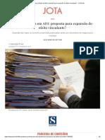 Teses Jurídicas Em ADI_ Proposta Para Expansão Do Efeito Vinculante_ - JOTA Info