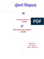 ORGANISATIONAL CULTURE OF BHEL