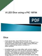 A LED Dice using a PIC 16F84