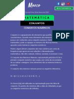 Matemática 03. 1 - Conjuntos Numéricos  RESUMO