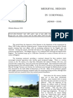 Medieval Hedges in Cornwall (AD 450 - 1550)