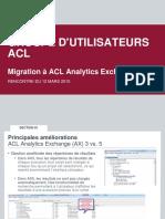 2015-03-12 Migration à ACL Analytics 11 et Audit Exchange 5