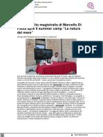 Rimini, la lectio magistralis di Marcello di campo apre la Summer School La Natura del Mare - Chiamamicitta.it, 25 agosto 2021