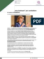 Premio Monia Andreani per combattere le discriminazioni - Il Metauro.it, 24 agosto 2021