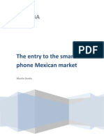 The entry on the smartphones market in Mexico