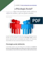 Psicología Social-Conceptos Básicos