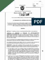 distancia Decreto 3554 de 2008