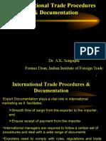 International Trade Procedures & Documentation