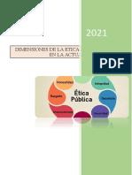 DIMENSIONES DE LA ETICA DE LO PUBLICO EN LA ACTUALIDAD