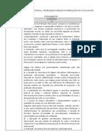 FICHAMENTO - AVALIAÇÃO EDUCACIONAL - PROBLEMAS GERAIS  E FORMAÇÃO DO AVALIADOR-convertido