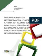 Principais Alterações Introduzidas Pela Lei Orgânica n.º 1-2021, de 4 de Julho