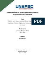 Comunicación interna en las empresas (Caso periódico dominicano)