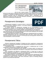 Planejamento estratégico, tático e operacional
