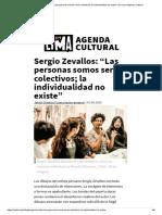 """Sergio Zevallos_ """"Las Personas Somos Seres Colectivos; La Individualidad No Existe"""" _ en Lima Agenda Cultural"""