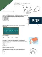 Avaliação de Matemática9º anos  3º Bimestre