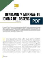 Benjamin y Murena, el idioma del desencuentro. Mariana Dimópulos. Revista Estado crítico (Nro. 3)-8-11