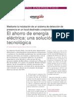 El ahorro de energía eléctrica, una solución tecnológica