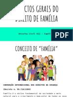 Slides - ASPECTOS GERAIS DO  DIREITO DE FAMÍLIA