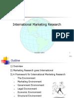 International Marketing Research ,1-IMR-NG