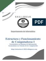Estructura y Funcionamiento de las Computadoras - U1 - Conceptos Introductorios