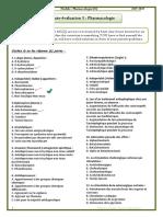01. Pharmacologie, Auto-évaluation 1