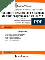 Ventajas y desventajas de sistemas de multiprogramacion en los SO