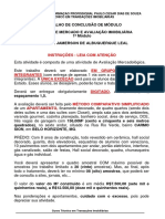 OPERAÇÕES IMOBILIÁRIAS I - Trabalho 3