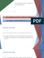 lPERSONA NATURAL Y JURIDICA