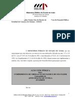 Acao Civil Publica - Peticao Inicial - Deficientes Isencao de Icms e Ipva - Nova Propositura