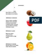 10 Adivinanzas de solo frutas