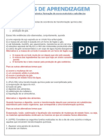 EXERCÍCIOS DE APRENDIZAGEM TRANSFORMAÇÃO - GABARITO