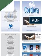 April 3, 2011 Cordova Church Bulletin