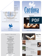 March 27, 2011 Cordova Church Bulletin