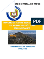 DIAGNÓSTICO DE RECOLECCIÓN DE RESIDUOS SÓLIDOS MUNICIPALES sd