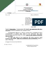 Circ n. 482 Integrazione Comunicazione Non Ammissione