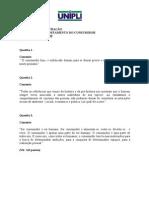 EXERCICIO COMPORTAMENTO DO CONSUMIDOR 2011 1