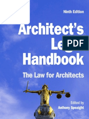 Architect S Legal Handbook The Law For Architects 9th Edition Arbitration Adjudication