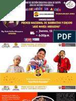 Ppt - Exposición Premio Nacional de Narrativa y Ensayo José María Arguedas 2021