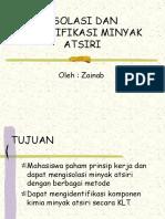 ISOLASI DAN IDENTIFIKASI MINYAK ATSIRI 2010