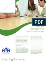 Change management communications