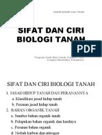 Kuliah 5. Sifat Dan Ciri Biologi Tanah - Copy