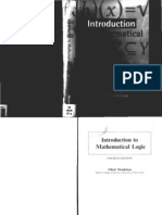 Ellitot Mendelson - Introduction to Mathematical Logic (4th Ed)