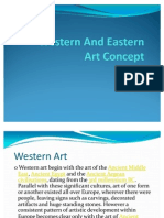 Western And Eastern Art Concept