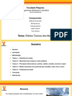 Efeitos _Tóxicos_dos_Metais - Quimica Ambiental_EAS_Pitágoras_Grupo_2