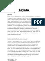 Toyota assaignment