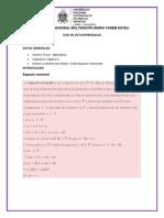 Guía de Autoaprendizaje 1 . Espacios Vectoriales