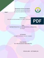 Sistema productivo y la distribución de la riqueza del Ecuador ( CARLINA GUERRERO )